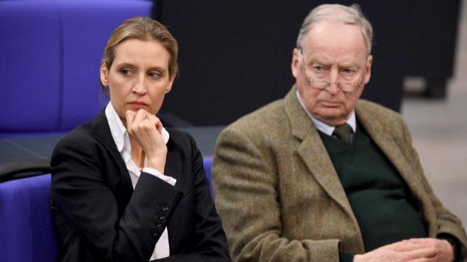 Alice Weidel y Alexander Gauland, altos representantes de la AfD